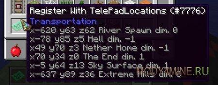 TelePads - Телепорт в Minecraft