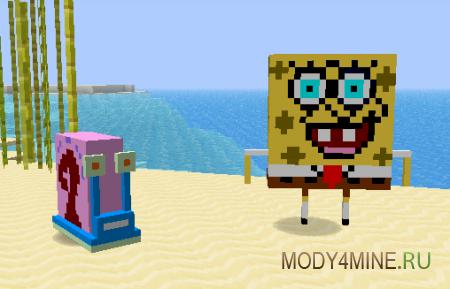 Toontown - Новые персонажи и предметы из мультиков в Minecraft