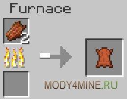 Rotten Flesh to Leather - переработка гнили в Minecraft 1.5.2