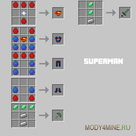 Superheroes Unlimited Mod — супергерои в Minecraft 1.5.2/1.6.4/1.7.10