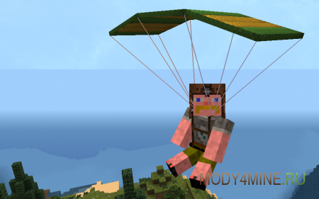 Parachute Mod - парашют в Minecraft 1.6.4 - 1.7.10