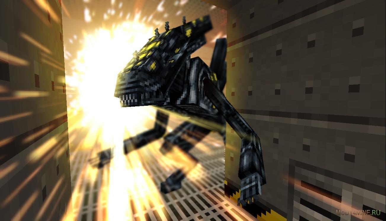 Мод чужой против хищника (alien vs predator) для minecraft 1. 7. 10.