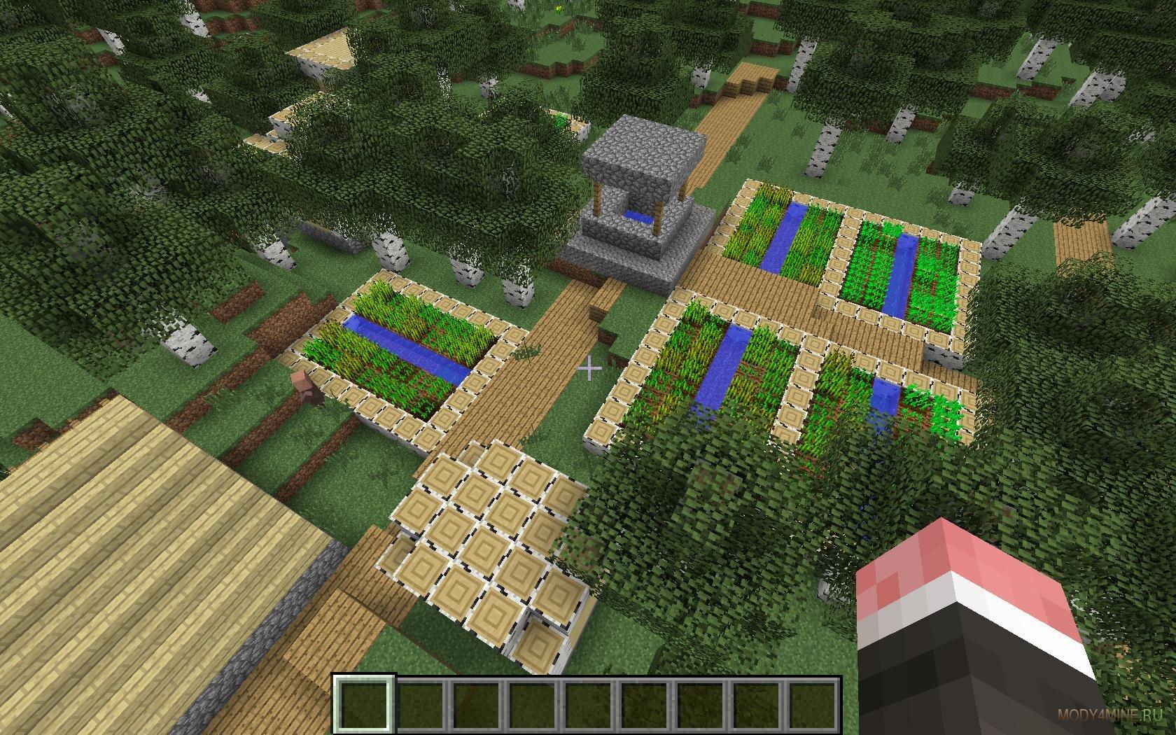 Minecraft мод большие деревни