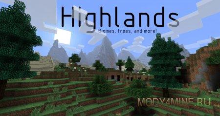 Highlands - мод на биомы для Minecraft 1.7.2/1.7.10
