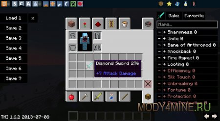 TooManyItems для Minecraft 1.7.2/1.7.10