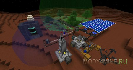 Сборку galacticraft на майнкрафт