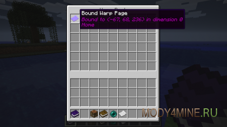 Warp Book - мод на телепортацию в Minecraft 1.6.4/1.7.2/.10