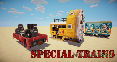 Мод на поезда Traincraft 1.6.4/1.5.2