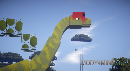 Мод на динозавров JurassiCraft 1.7.10