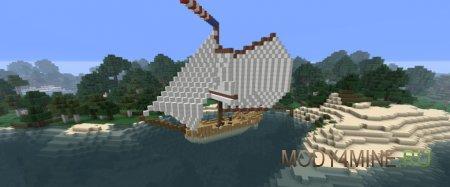 Мод на корабли Ships Mod 1.7.10/1.6.4
