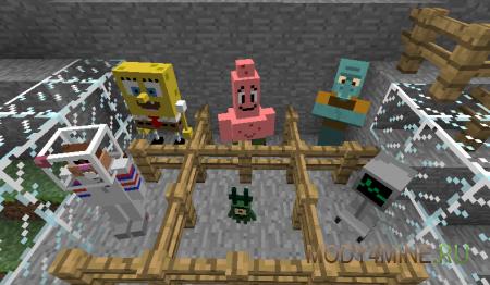 SpongeBob SquarePants - мод на губку Боба 1.7.10