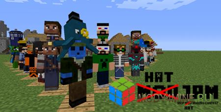 Hats — мод на шапки для Minecraft 1.5.2/1.6.4/1.7.2/1.7.10/1.10.2/1.12.2