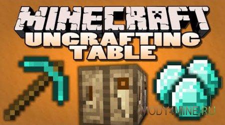 Мод на антиверстак Uncrafting Table 1.12.2-1.7.10
