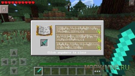 Enchanting & Experience - мод на зачарование для Minecraft PE 0.10.5