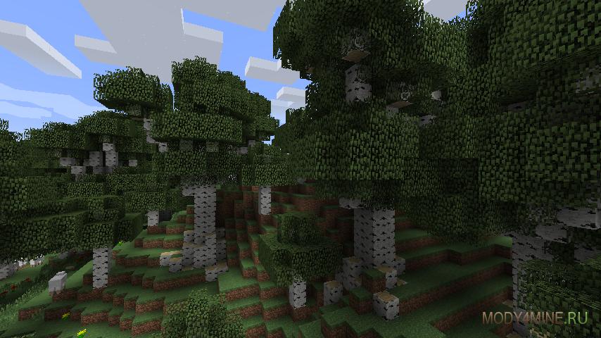 скачать мод на высокие деревья img-1