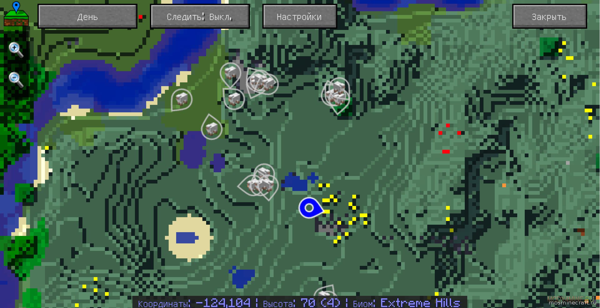 Xaero's minimap для minecraft 1. 7. 10/1. 8/1. 9. 4/1. 10. 2/1. 11. 2/1. 12.