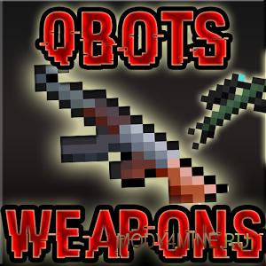 Qbots Gun — мод на оружие для Майнкрафт 0.14.0