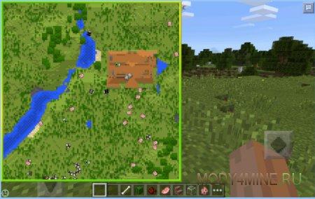 Mini Map — мод на мини карту для Minecraft 0.14.0