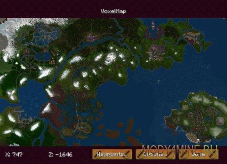 Мировая карта Minecraft