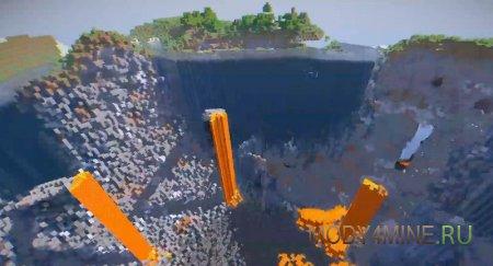 Взыв бомбы оставил огромный кратер