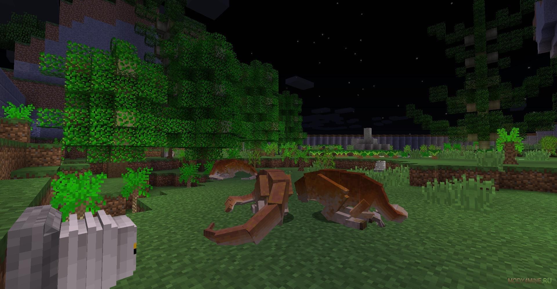 Мод на динозавров (jurassicraft) для minecraft 1. 7. 10.