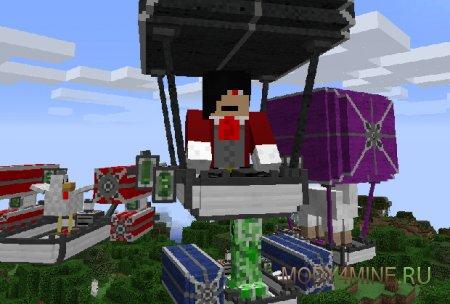 ViesCraft — мод на дирижабли для Minecraft 1.9.4/1.10.2/1.11.2/1.12.2
