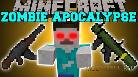 The Zombie Apocalypse — мод на зомби апокалипсис в Майнкрафт 1.8