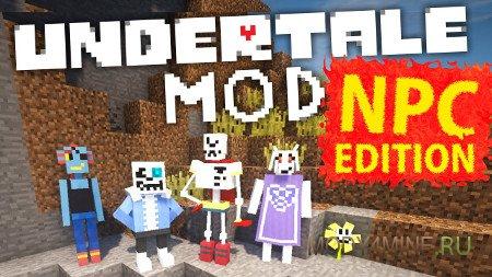 Карта и мод Undertale для Minecraft 1.10.2/1.9/1.8.9