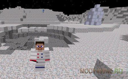 Moon Mod — полет на Луну в ракете в Minecraft 1.7.10/1.8.9/1.7.2