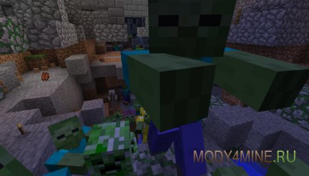 Зомби и крипы атакуют!
