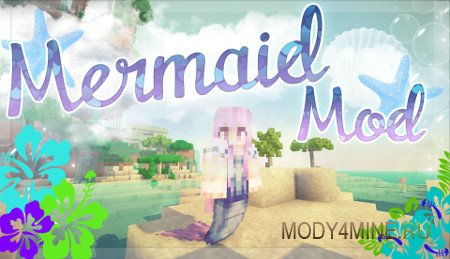 Mermaid Tail — мод на хвост русалки для Minecraft 1.7.10-1.6.4