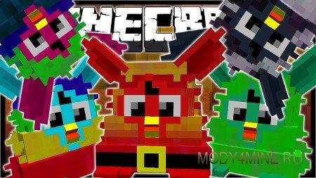 Furby Mania — мод на Ферби для Minecraft 1.8/1.7.10