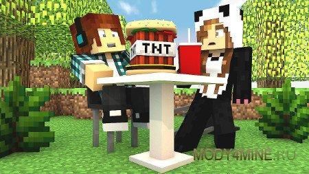 Explosive food — мод на заминированную еду для Minecraft 1.7.10