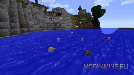 Деревянные блоки плавают