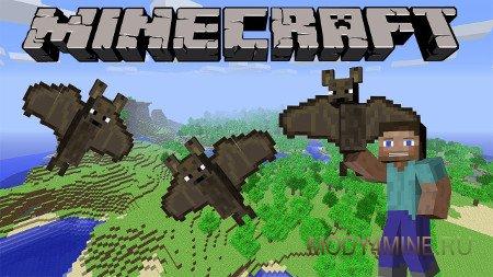 Pet Bat Mod — приручение летучей мыши в Minecraft