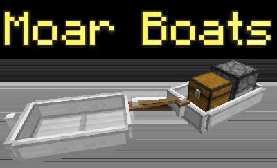 Moar Boats — мод на лодки в Minecraft 1.12.2