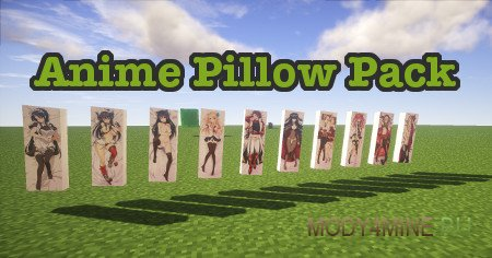 Anime Pillow Pack — дакимакура в Minecraft 1.8/1.7.10