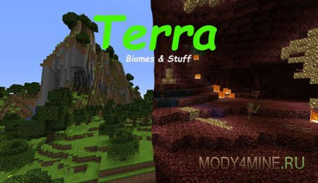Terra — мод на биомы в Minecraft 1.12.2
