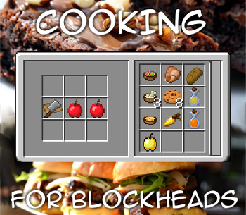 Cooking for Blockheads — мод на кухню в Minecraft 1.7.10-1.12.2, 1.14.4, 1.15.2, 1.16.2 и 1.16.3
