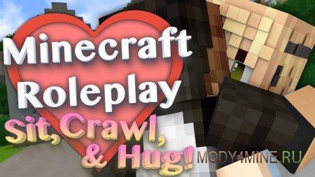 MPM Mod — сидеть, лежать и ползать в Minecraft 1.12.2-1.7.10
