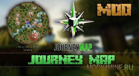 JourneyMap — карта в Minecraft 1.12.2/1.12.1/1.12