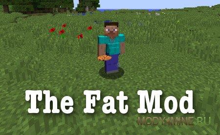 The Fat — мод на набор веса в Minecraft 1.12.2