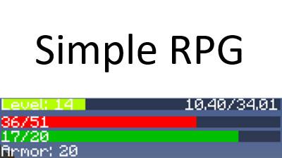 Мод Simple RPG для Minecraft 1.10.2/1.11.2/1.12.2