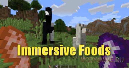 Мод ImmersiveFood для Minecraft 1.10.2/1.11.2/1.12.2