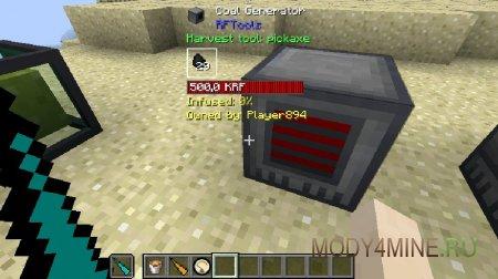 Генератор угля из RFTools