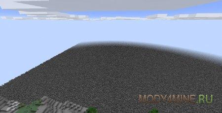 Остается квадратный кратер 1000x1000