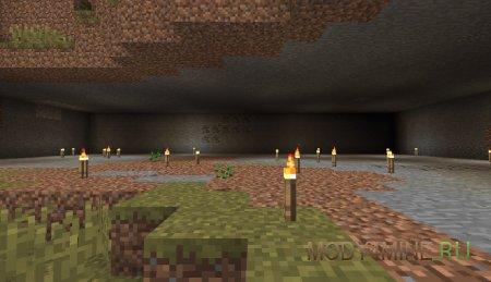 Удобен под землей, расставляет факелы и расчищает пространство