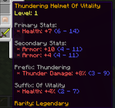 Шлем дает плюс к разным статистикам