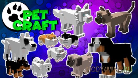 PetCraft – мод на домашних животных для Minecraft 1.12.2