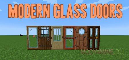 Modern Glass Doors – мод на двери для Minecraft 1.14.x